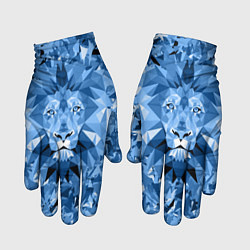 Перчатки тканевые с принтом Сине-бело-голубой лев, цвет: 3D, артикул: 10161246905957 — фото 1