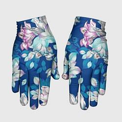 Перчатки Нежные цветы цвета 3D — фото 1