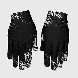 Перчатки БЕЛЫЕ ЧЕРЕПА цвета 3D-принт — фото 1