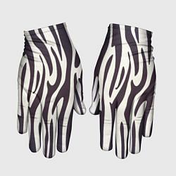 Перчатки Я зебра цвета 3D-принт — фото 1