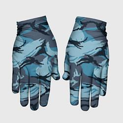 Перчатки Камуфляж Полиции цвета 3D-принт — фото 1