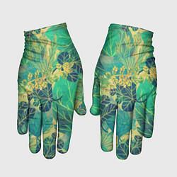 Перчатки Узор из листьев