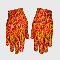 Перчатки Морковь цвета 3D — фото 1