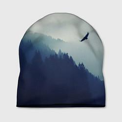 Шапка Орел над Лесом цвета 3D-принт — фото 1