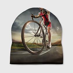 Шапка Велогонщик цвета 3D-принт — фото 1