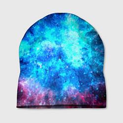 Шапка Голубая вселенная цвета 3D — фото 1