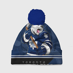 Шапка с помпоном Toronto Maple Leafs цвета 3D-тёмно-синий — фото 1