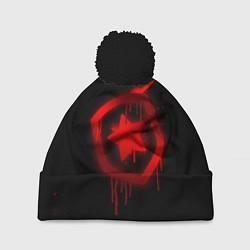 Шапка с помпоном Gambit: Black collection цвета 3D-черный — фото 1
