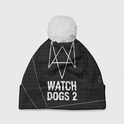 Шапка с помпоном Watch Dogs 2: Tech Geometry цвета 3D-белый — фото 1