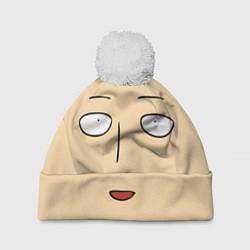 Шапка с помпоном Saitama Face цвета 3D-белый — фото 1
