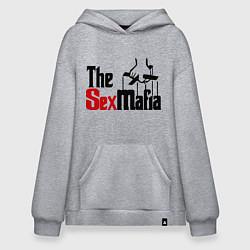 Толстовка-худи оверсайз The SexMafia цвета меланж — фото 1