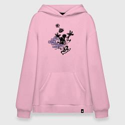 Толстовка-худи оверсайз Минни Маус цвета светло-розовый — фото 1
