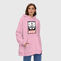 Толстовка-худи оверсайз Faceless Void Poster цвета светло-розовый — фото 2