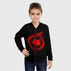 Бомбер детский Gambit: Black collection цвета 3D-черный — фото 2
