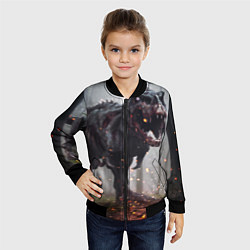 Бомбер детский Hell Dino цвета 3D-черный — фото 2