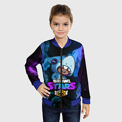 Детский 3D-бомбер на молнии с принтом Brawl Stars LEON, цвет: 3D-синий, артикул: 10201684304522 — фото 2