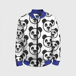 Бомбер детский Panda цвета 3D-синий — фото 1