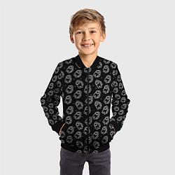Бомбер детский AMONG US цвета 3D-черный — фото 2