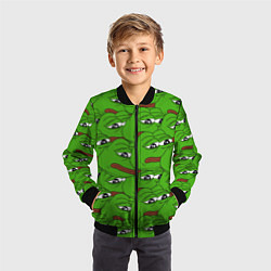Бомбер детский Sad frogs цвета 3D-черный — фото 2