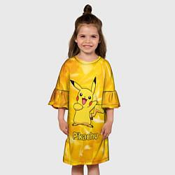 Платье клеш для девочки Pikachu цвета 3D — фото 2