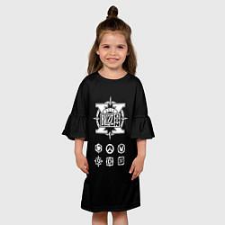 Платье клеш для девочки BlizzCon Symbols цвета 3D — фото 2