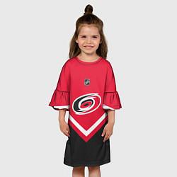 Платье клеш для девочки NHL: Carolina Hurricanes цвета 3D — фото 2