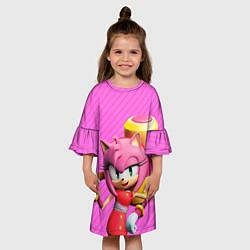 Платье клеш для девочки Amy Rose цвета 3D — фото 2
