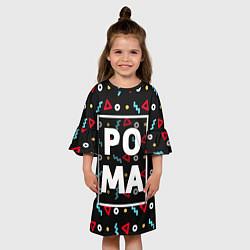 Платье клеш для девочки Рома цвета 3D — фото 2