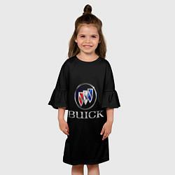 Платье клеш для девочки Buick цвета 3D-принт — фото 2