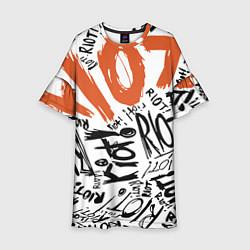 Платье клеш для девочки Paramore: Riot цвета 3D-принт — фото 1