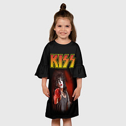 Платье клеш для девочки KISS: Paul Stanley цвета 3D — фото 2