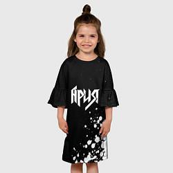 Платье клеш для девочки Ария цвета 3D — фото 2
