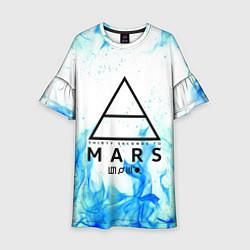 Платье клеш для девочки 30 SECONDS TO MARS цвета 3D-принт — фото 1