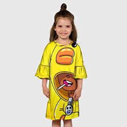 Платье клеш для девочки BRAWL STARS SALLY LEON цвета 3D-принт — фото 2