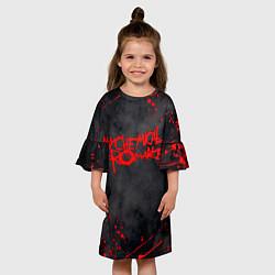 Платье клеш для девочки My Chemical Romance цвета 3D — фото 2