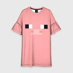Платье клеш для девочки Minecraft Pig цвета 3D — фото 1