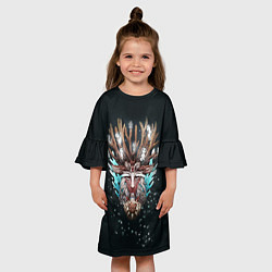 Платье клеш для девочки Princess Mononoke цвета 3D-принт — фото 2