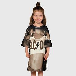 Платье клеш для девочки AC/DC Girl цвета 3D-принт — фото 2