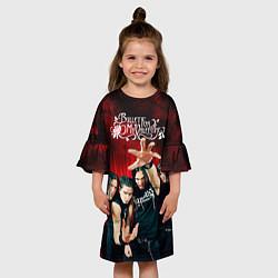 Платье клеш для девочки Bullet for my valentine цвета 3D-принт — фото 2