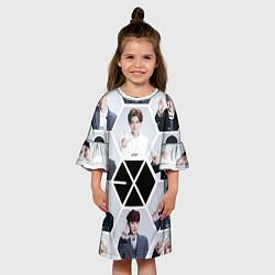 Платье клеш для девочки EXO Boys цвета 3D — фото 2