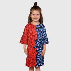 Платье клеш для девочки Ягодка цвета 3D — фото 2