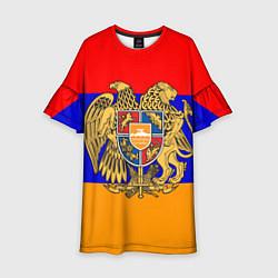 Платье клеш для девочки Герб и флаг Армении цвета 3D-принт — фото 1