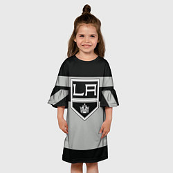 Платье клеш для девочки Los Angeles Kings цвета 3D-принт — фото 2