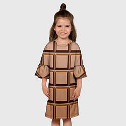 Платье клеш для девочки Шоколад цвета 3D — фото 2