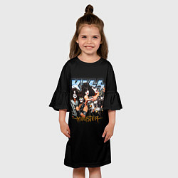 Платье клеш для девочки Kiss Monster цвета 3D — фото 2