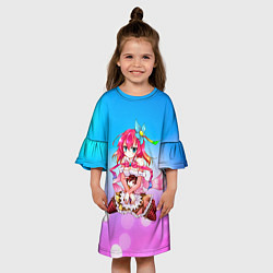 Платье клеш для девочки No Game No Life цвета 3D — фото 2