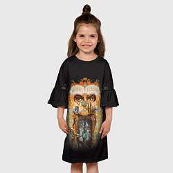 Платье клеш для девочки Michael Jackson Show цвета 3D — фото 2