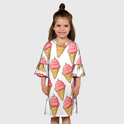 Платье клеш для девочки Мороженки цвета 3D — фото 2