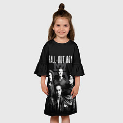 Платье клеш для девочки Fall out boy band цвета 3D-принт — фото 2