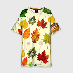 Платье клеш для девочки Осень цвета 3D — фото 1